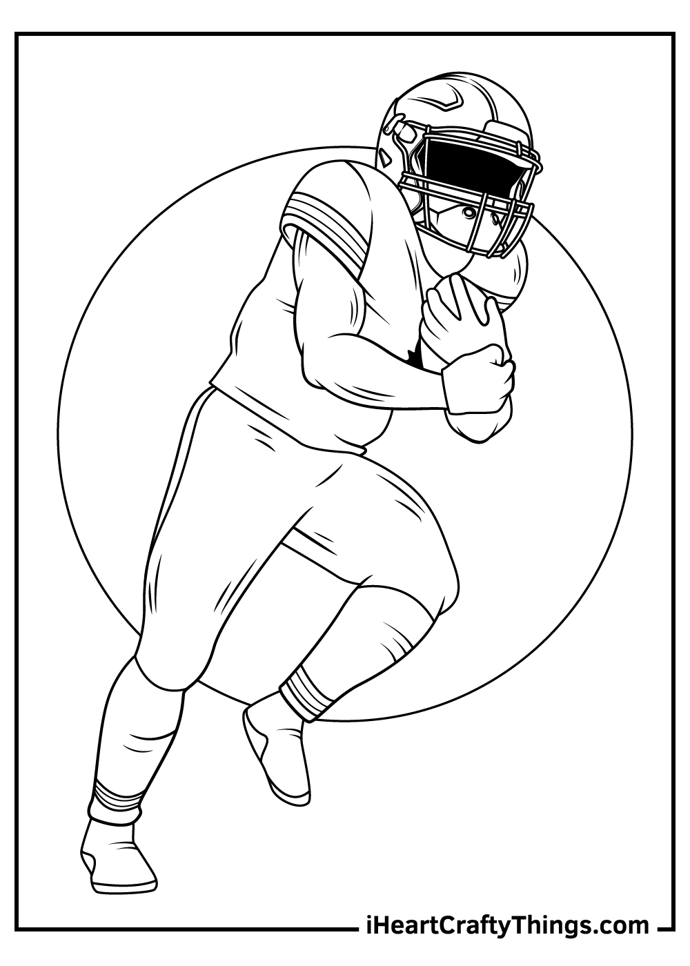 free printable NFL coloring pages for adults