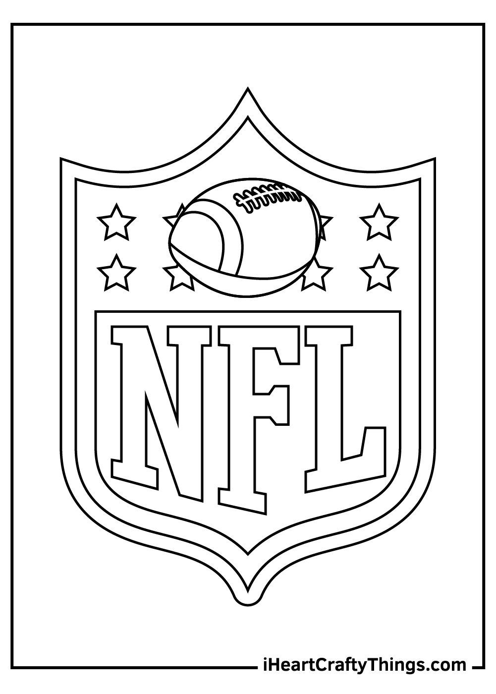 NFL coloring pages free logo
