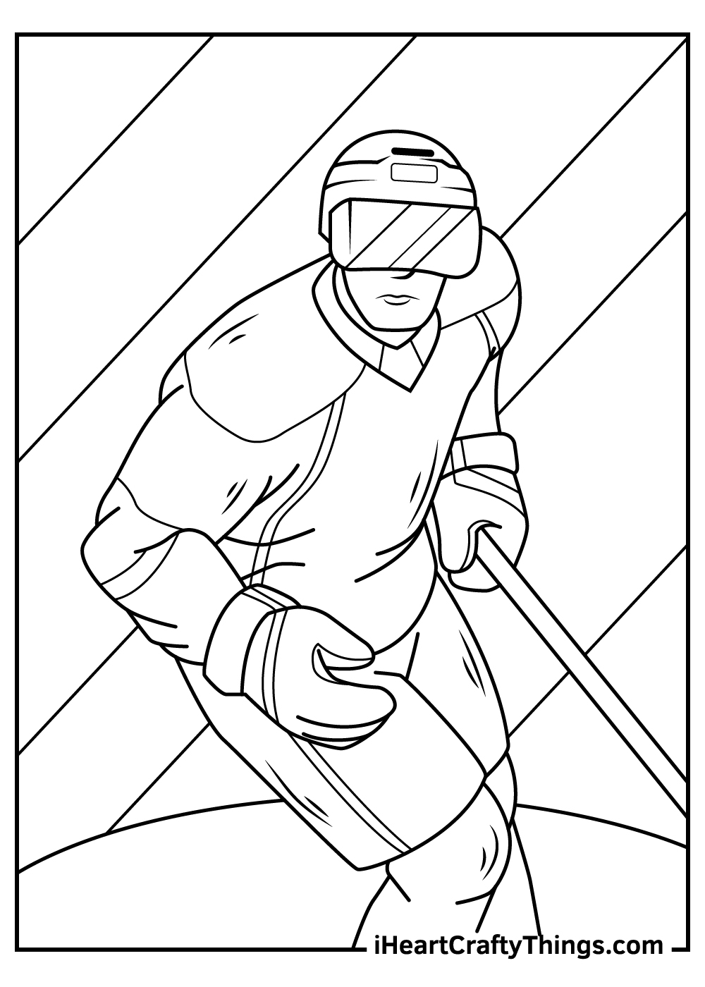 free nhl coloring pages download
