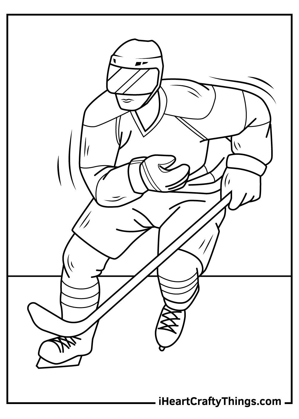 nhl coloring pages to print