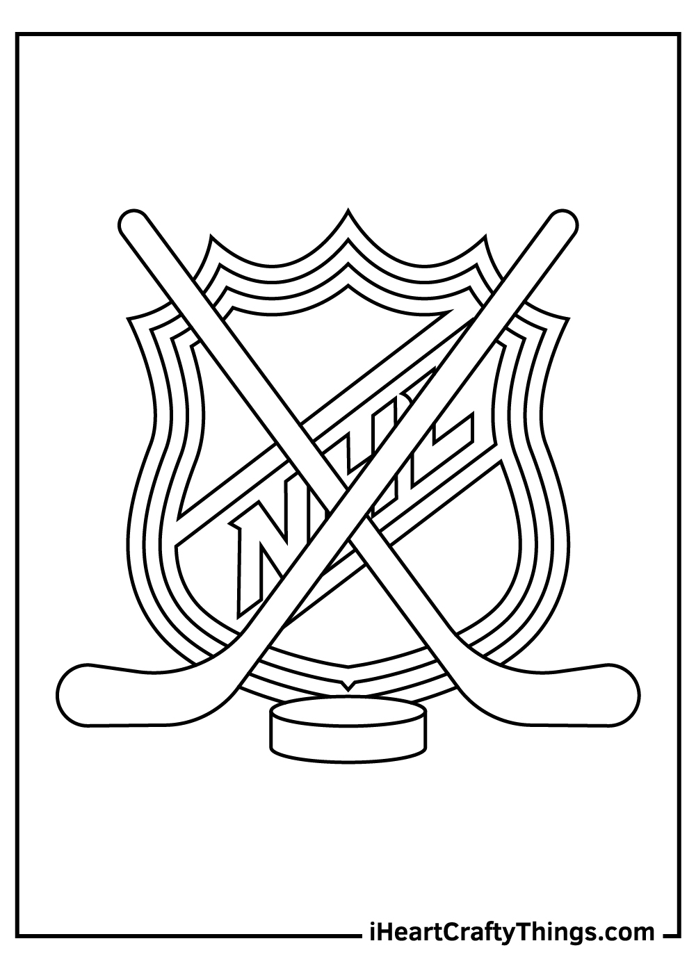 nhl coloring pages free printable logo