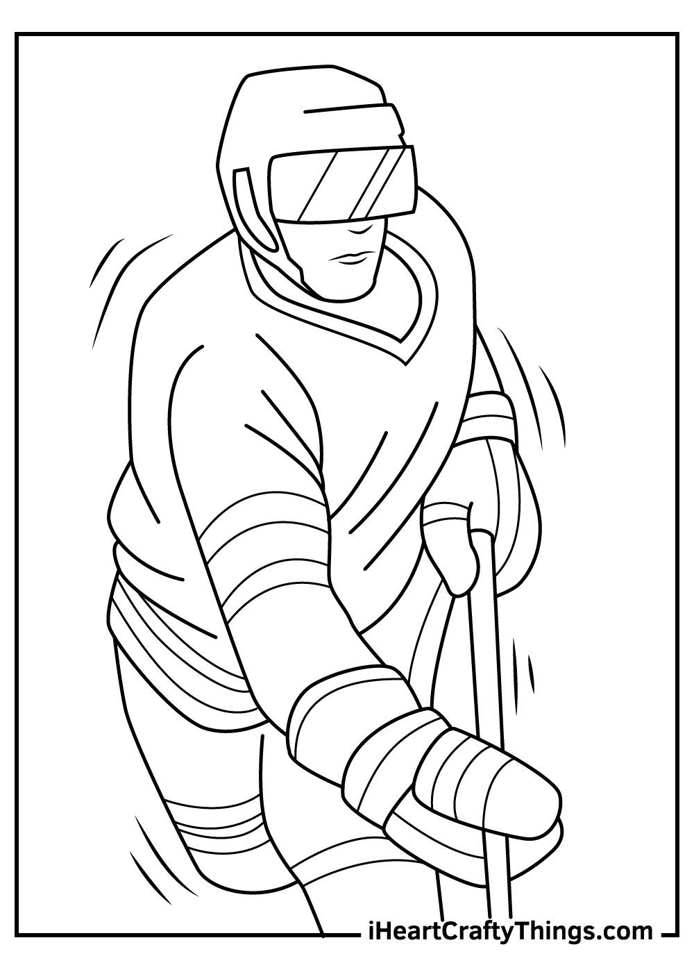 nhl coloring pages helmets