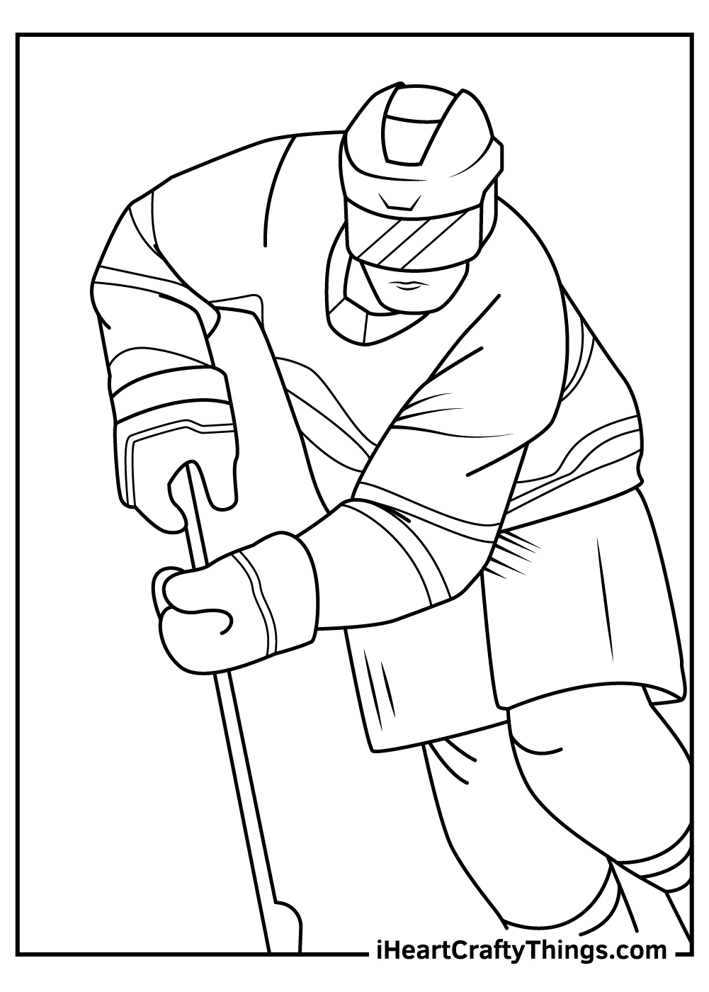 free nhl coloring pages
