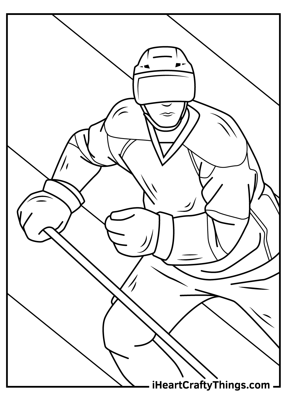 black and white nhl coloring pages to print