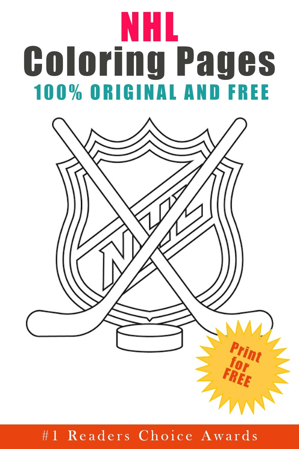original and free NHL coloring pages