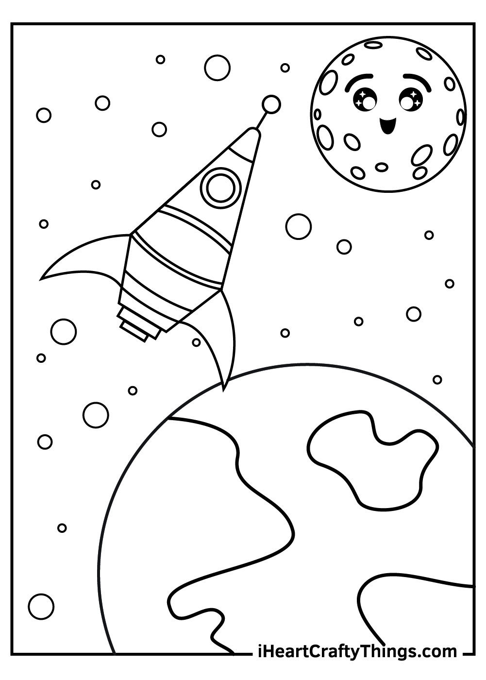 outer space coloring pages for kids
