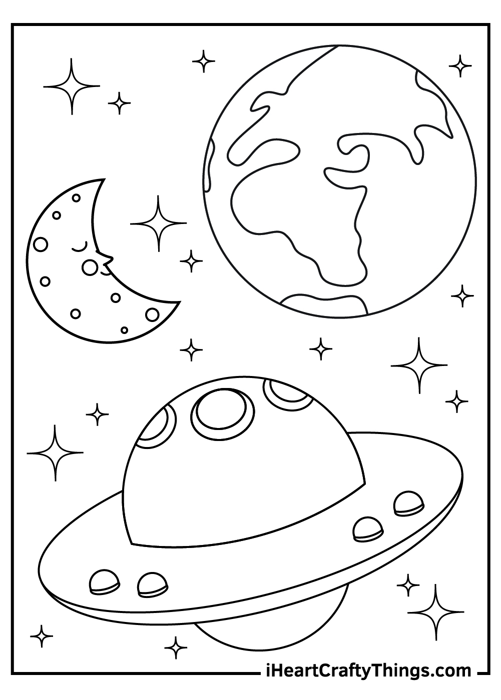 free outer space coloring pages download