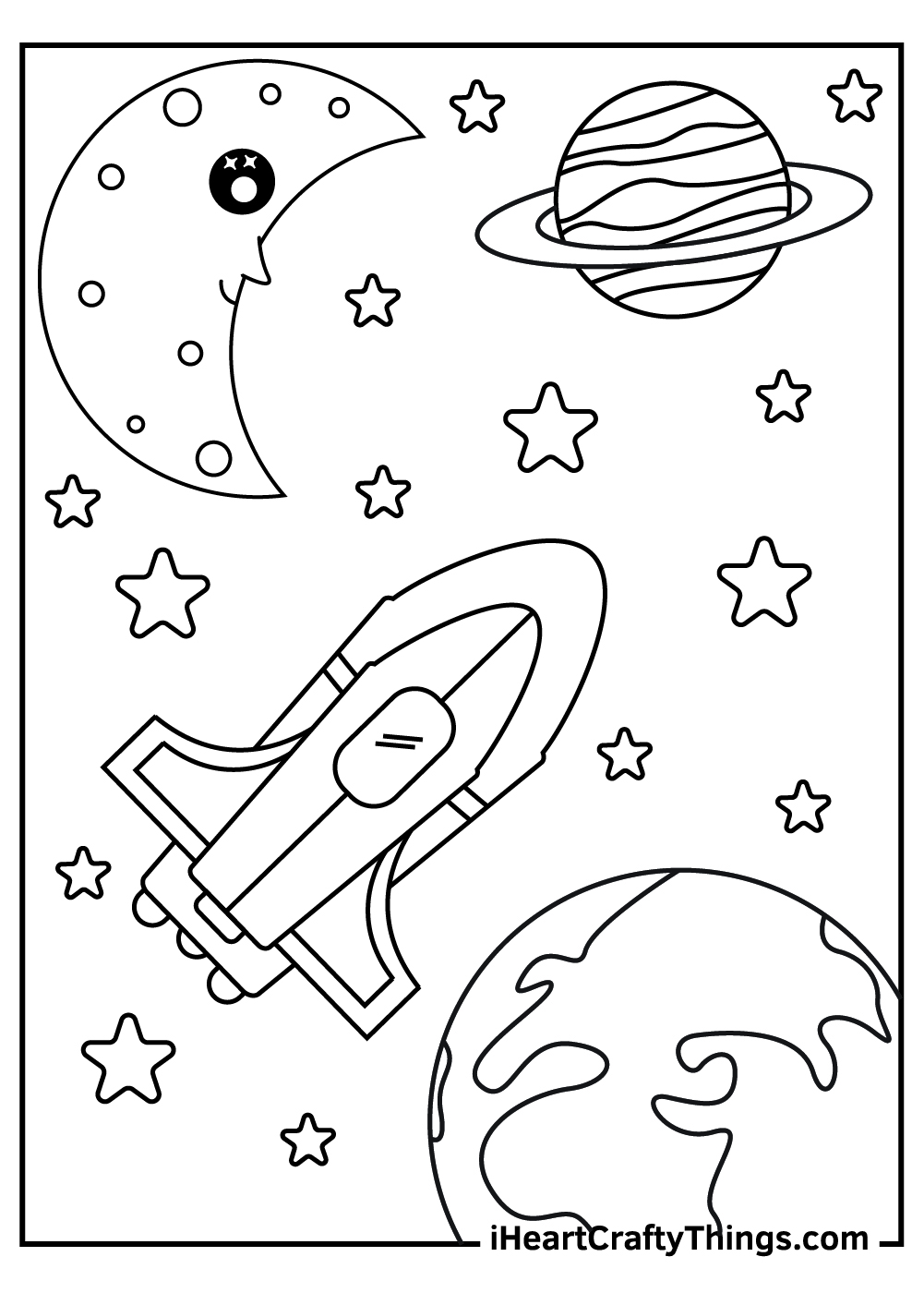 free outer space coloring pages for preschoolers