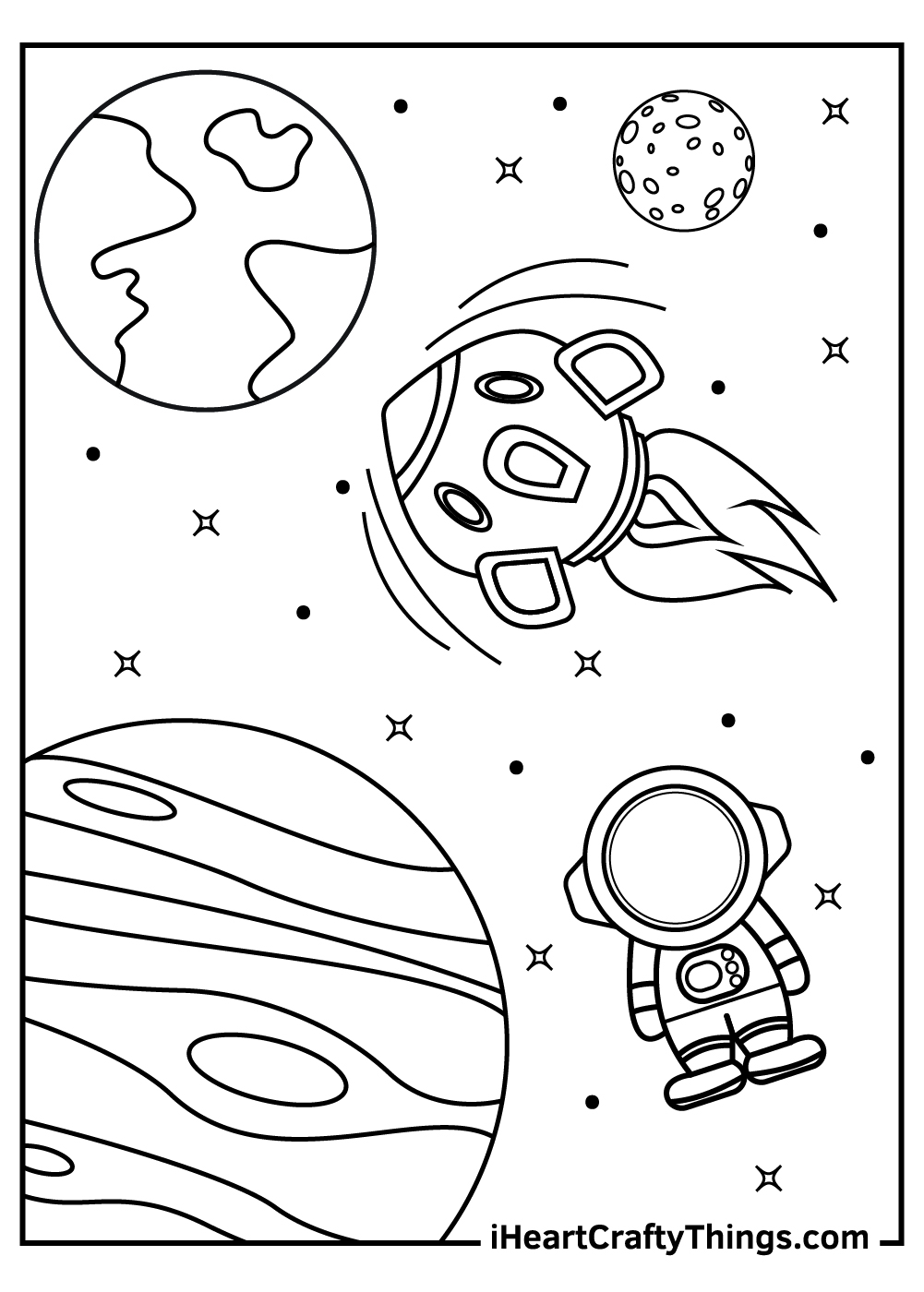free printable outer space coloring pages for kids