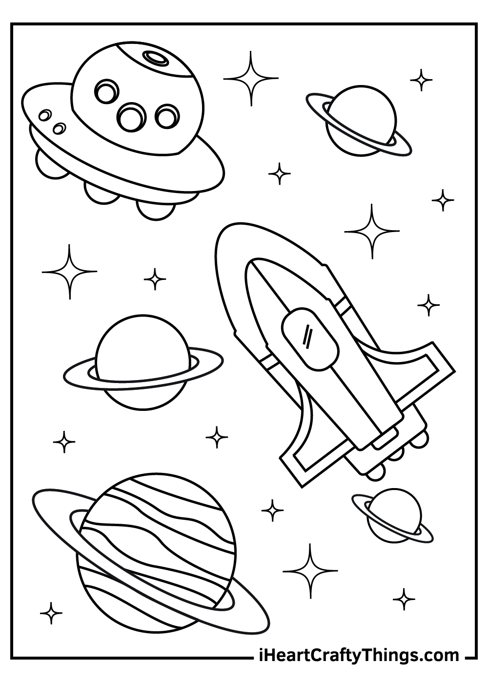 outer space coloring pages for adults to print