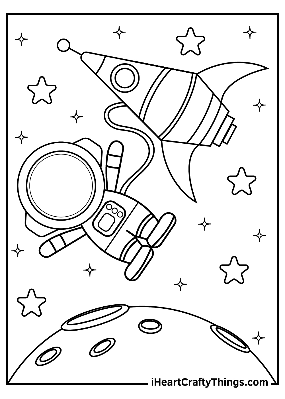 outer space coloring pages astronaut