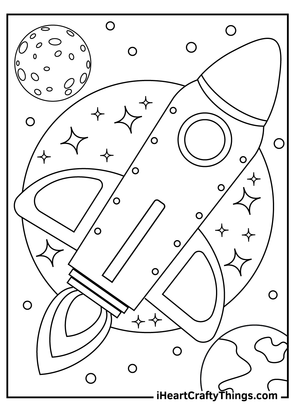 cool outer space coloring pages