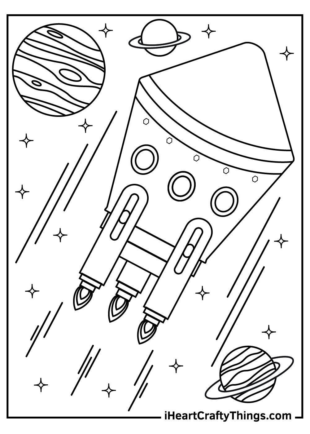 galaxy outer space coloring pages