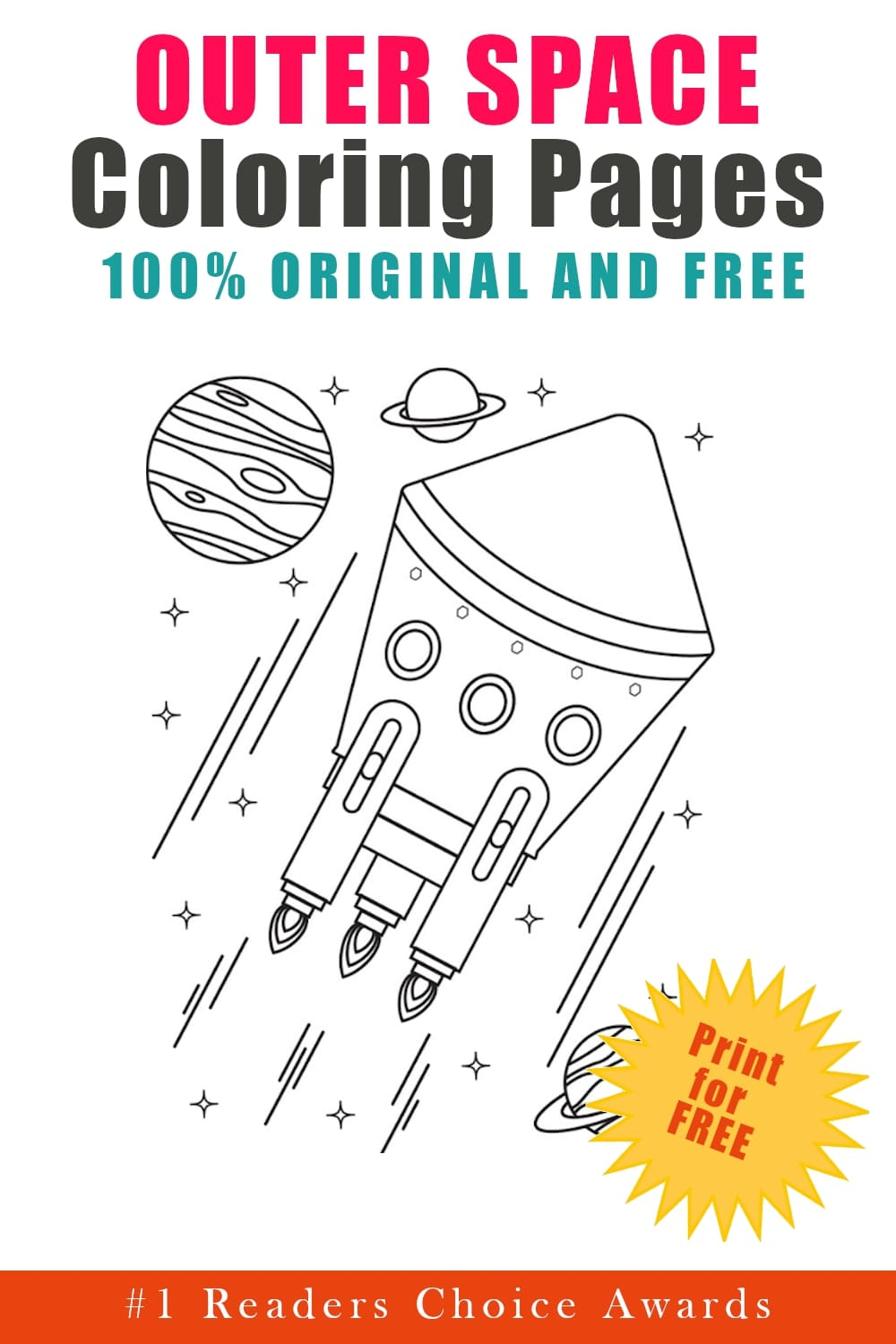 original and free outer space coloring pages