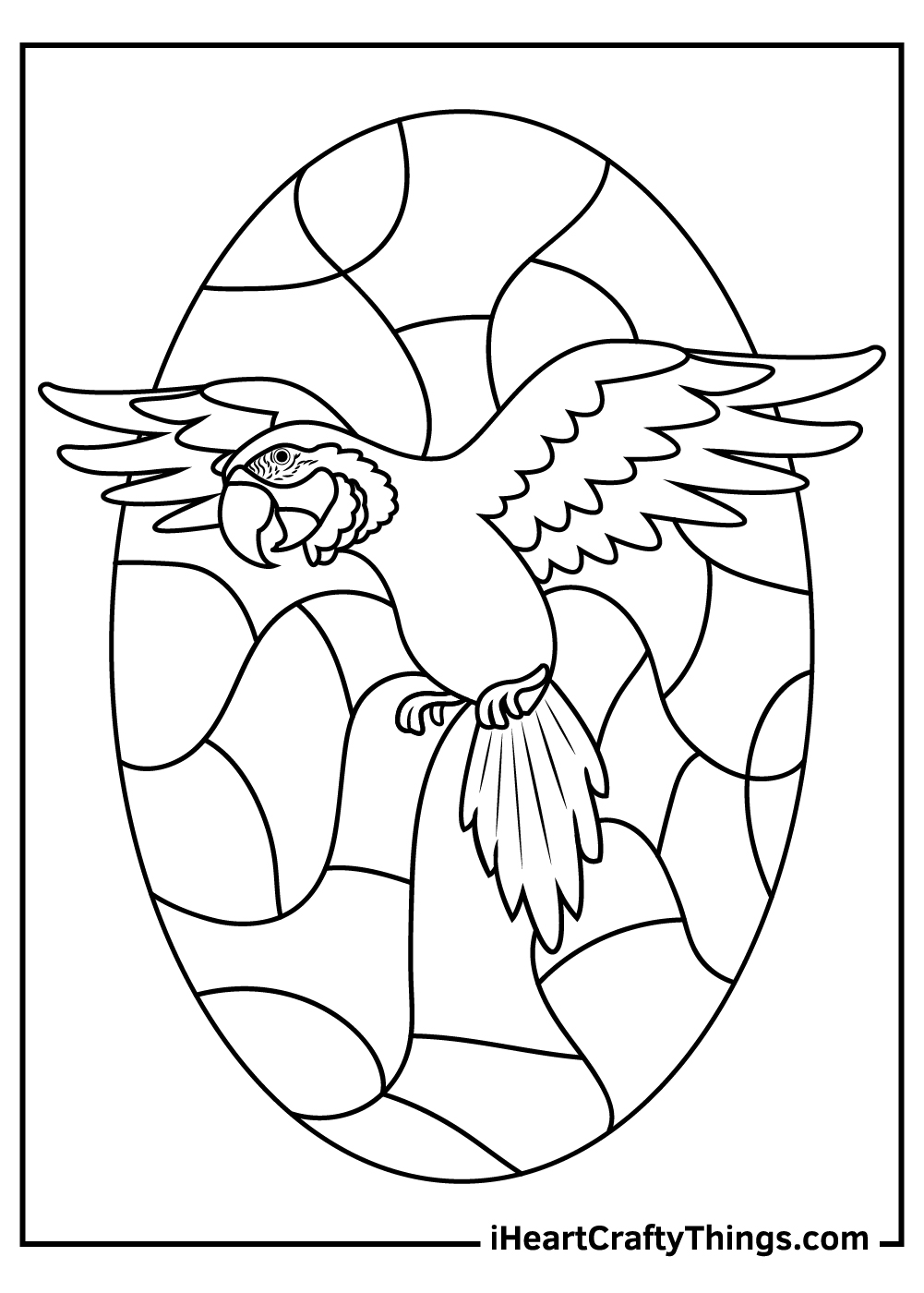 flying parrots coloring pages