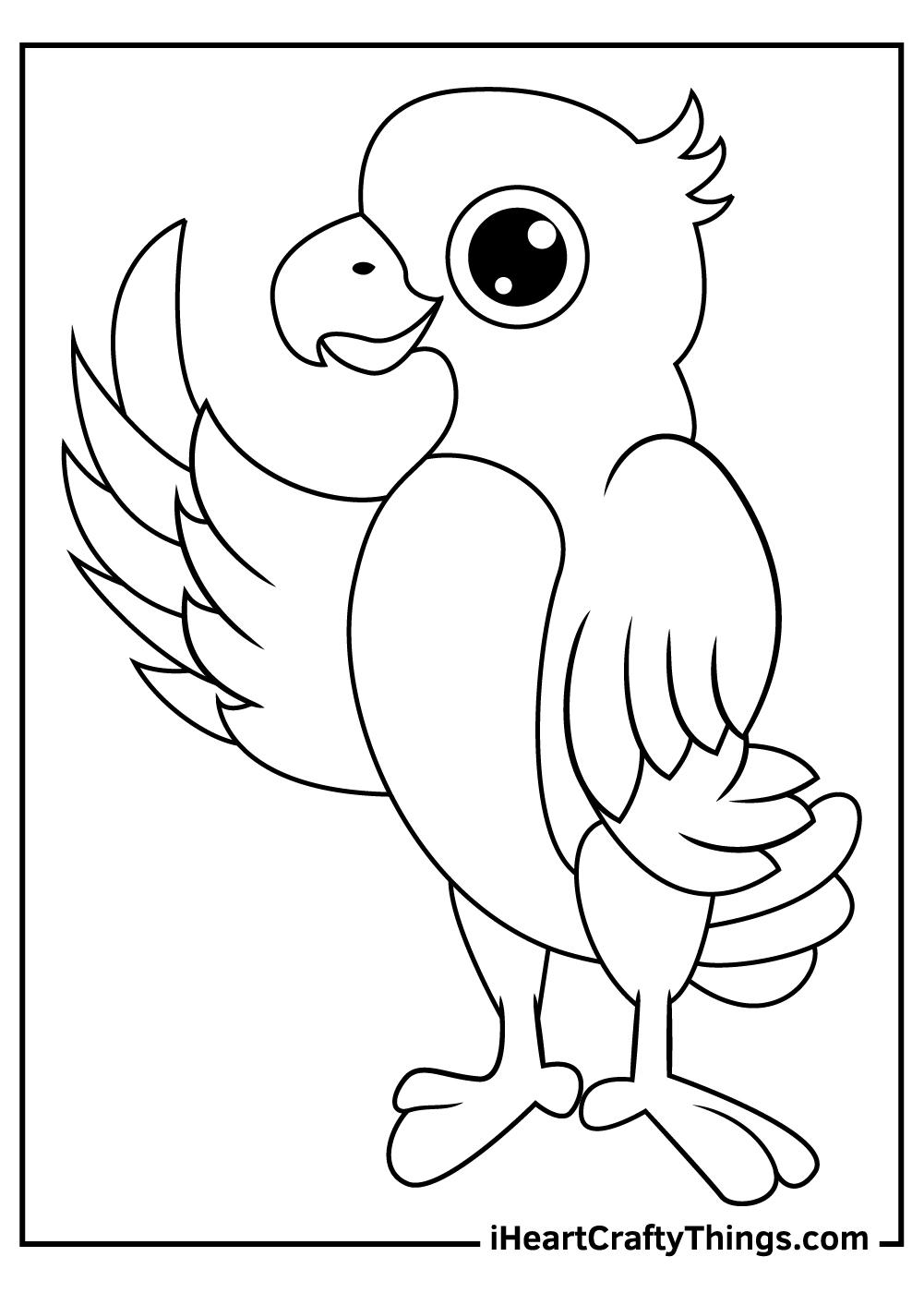 cute pirate parrots coloring pages