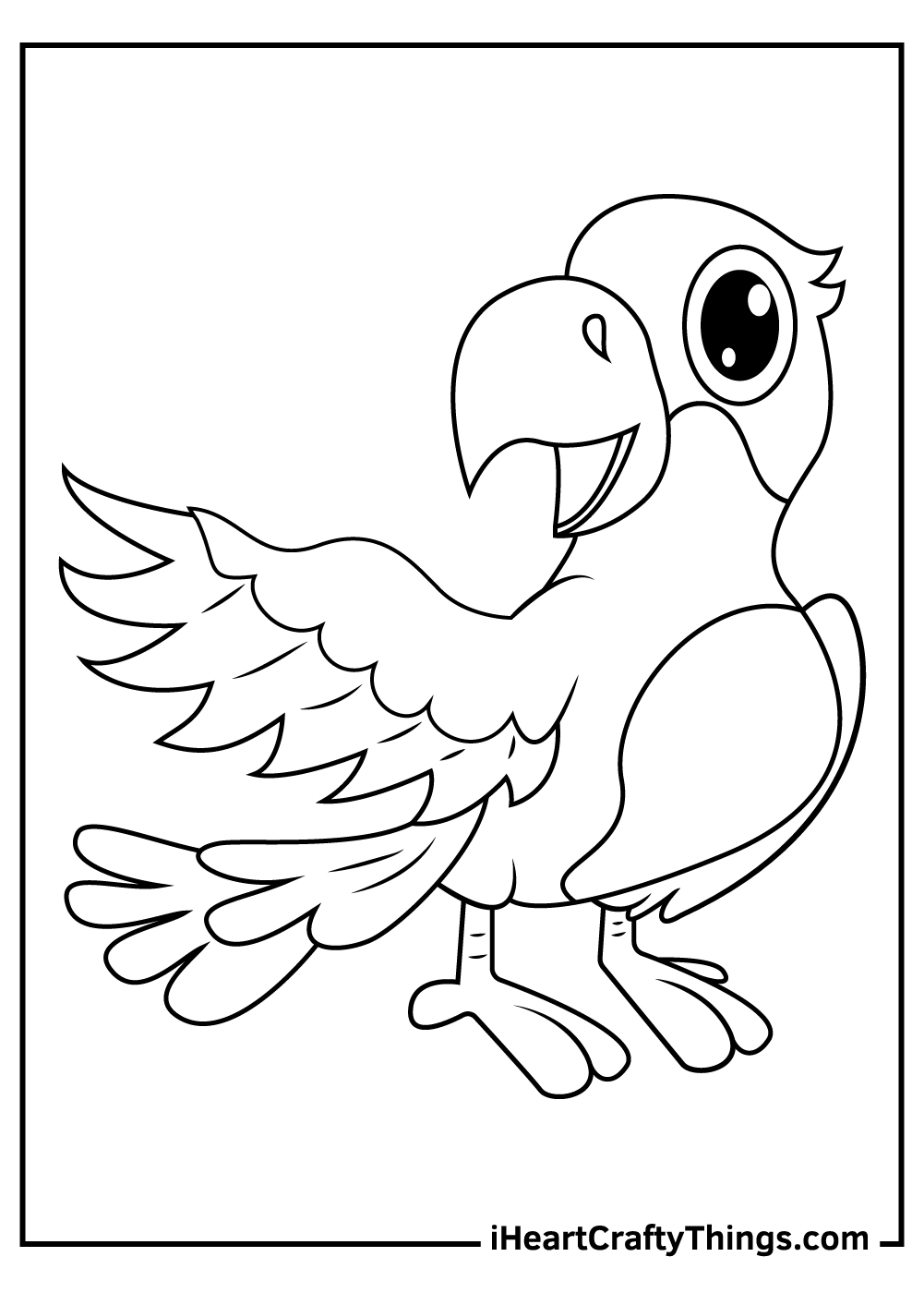 talking parrots coloring pages free printable
