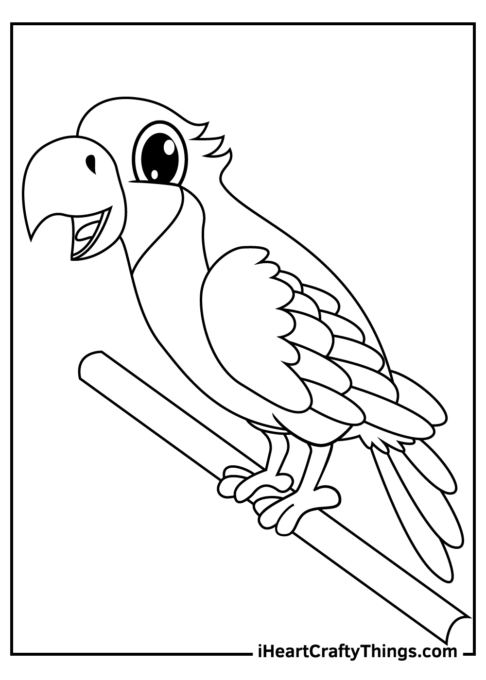 parrots coloring pages for kids free printable