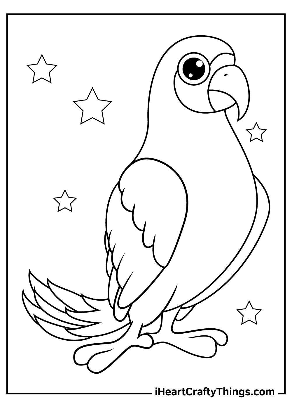 parrots coloring pages for adults free download