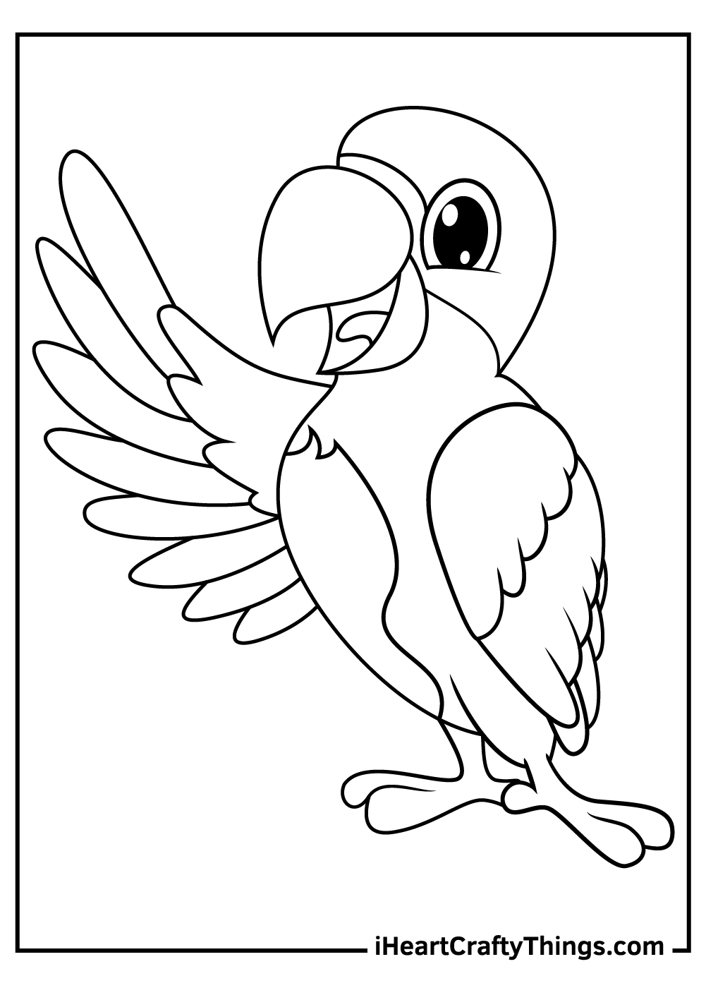 baby parrots coloring pages print out