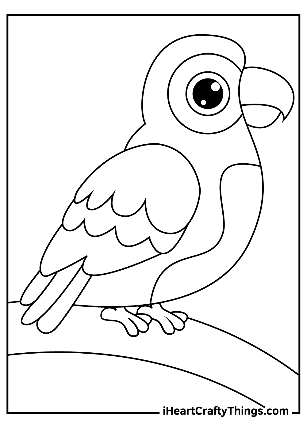 pretty parrots coloring pagesprintable