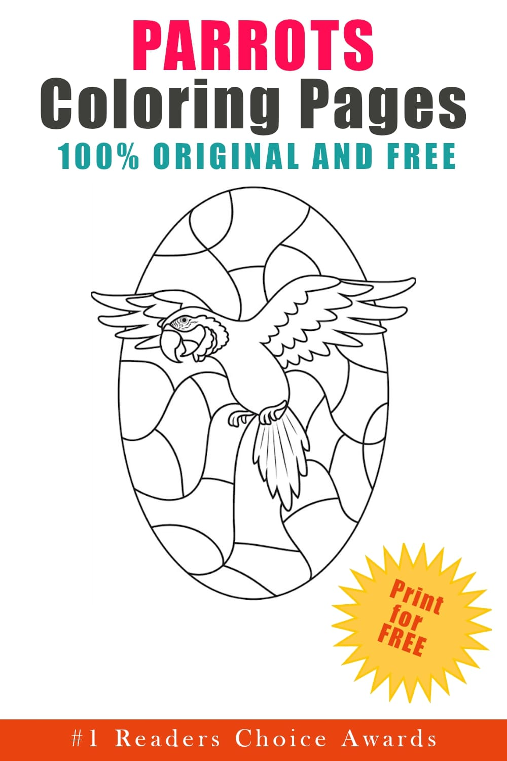 original and free parrots coloring pages
