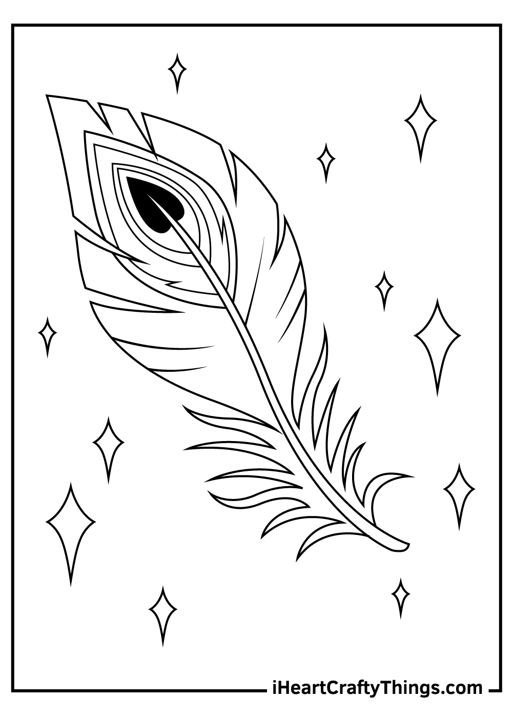 peacock feather coloring pages free printable