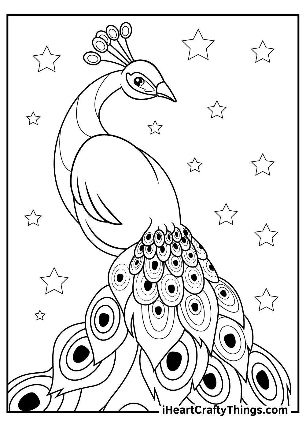 adult peacock coloring pages download