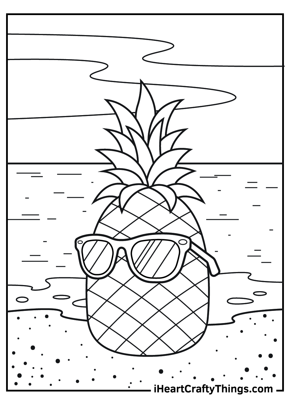 cute pineapple coloring pages free printable