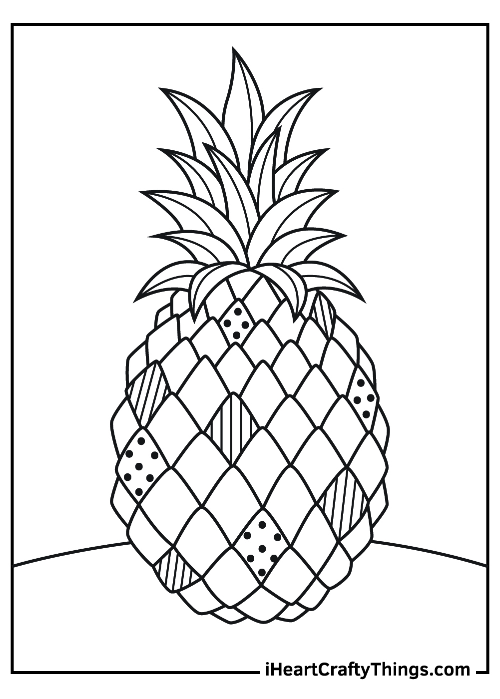 spongebob pineapple coloring pages