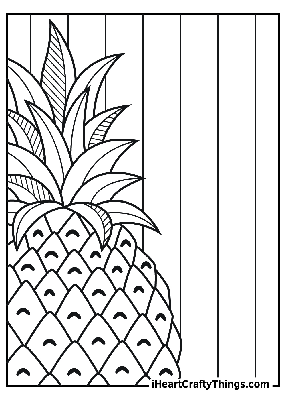 realistic pineapple coloring pages free printable