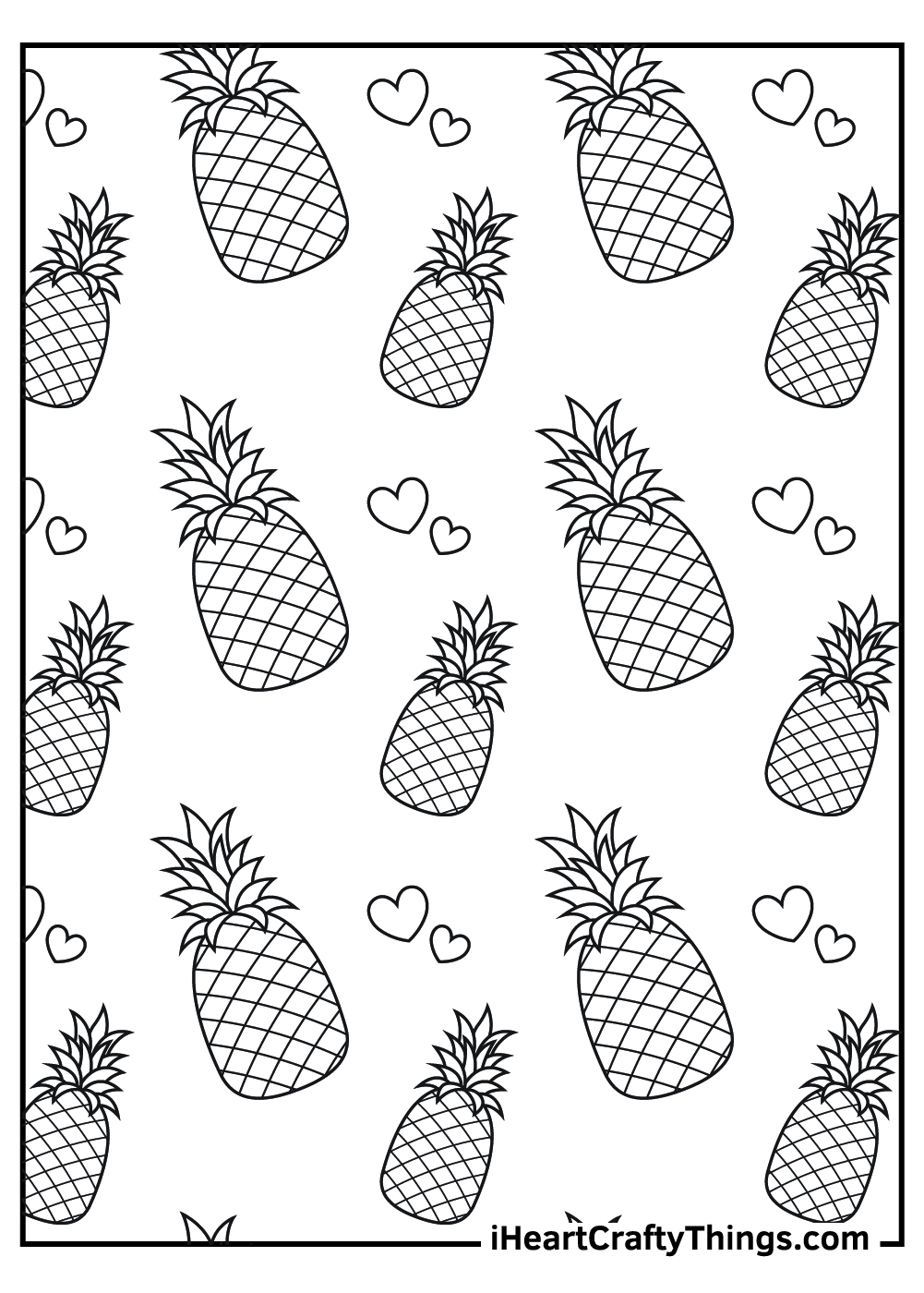many pineapples coloring pages free download