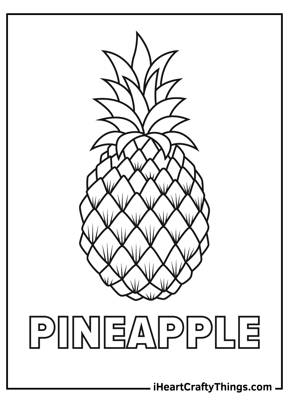black and white pineapple coloring pages free printable