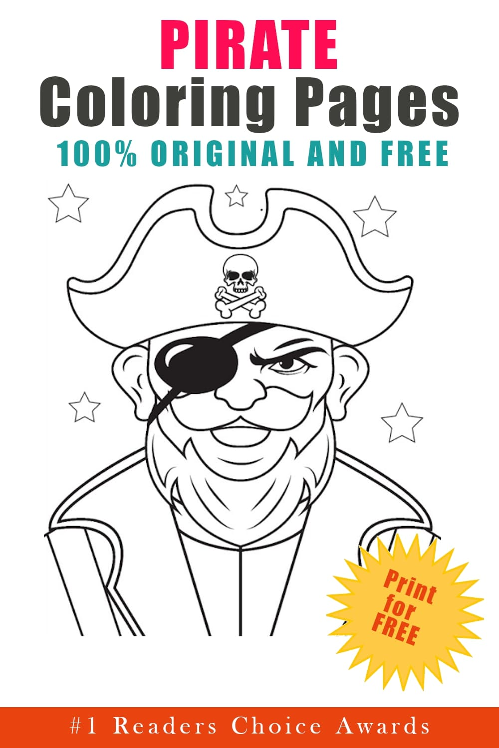 original and free pirate coloring pages printable