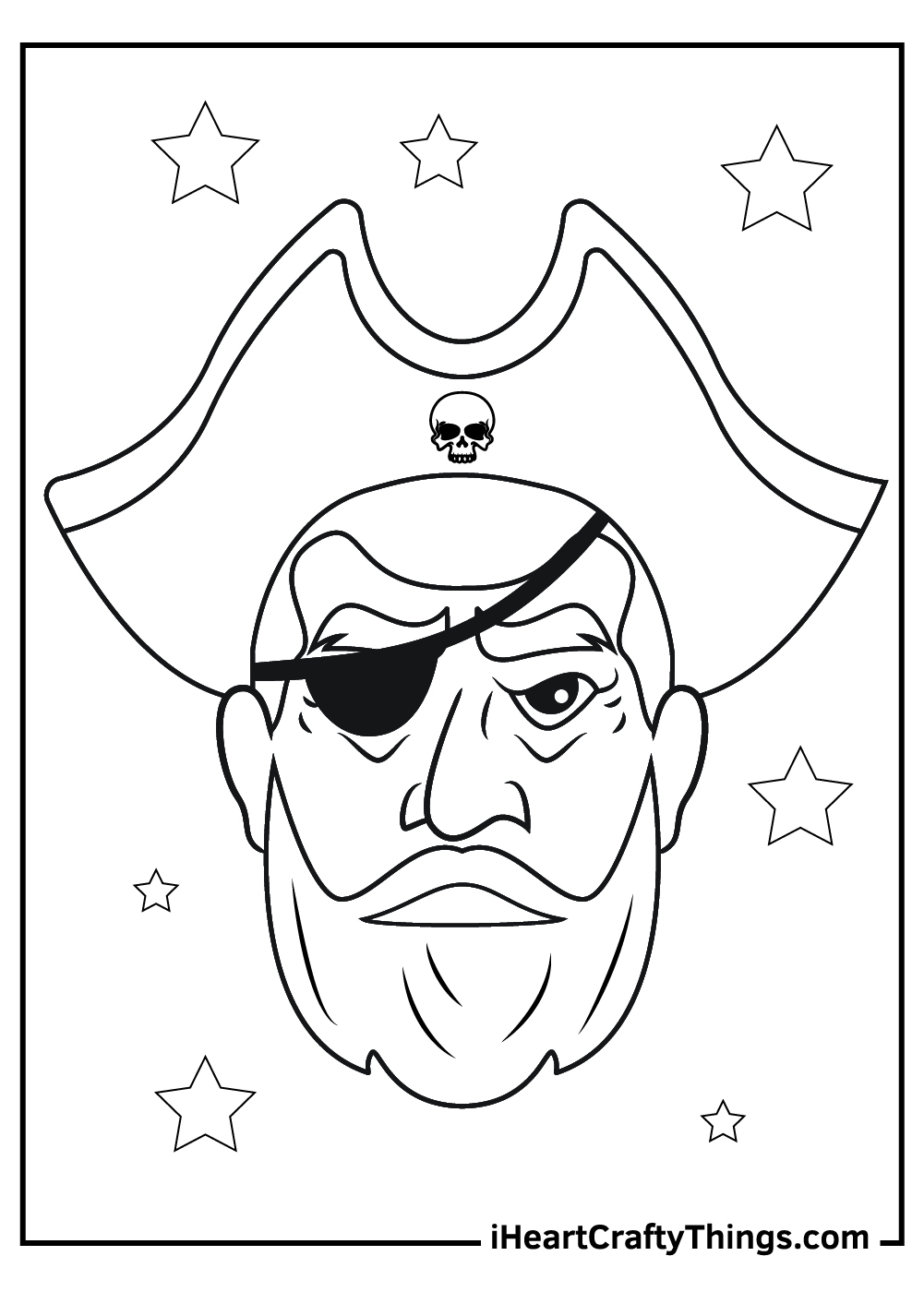 evil pirates coloring pages