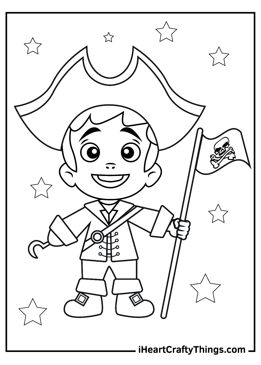 young pirate coloring pages free download
