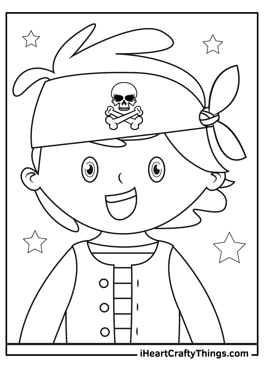 boy pirate coloring pages free download
