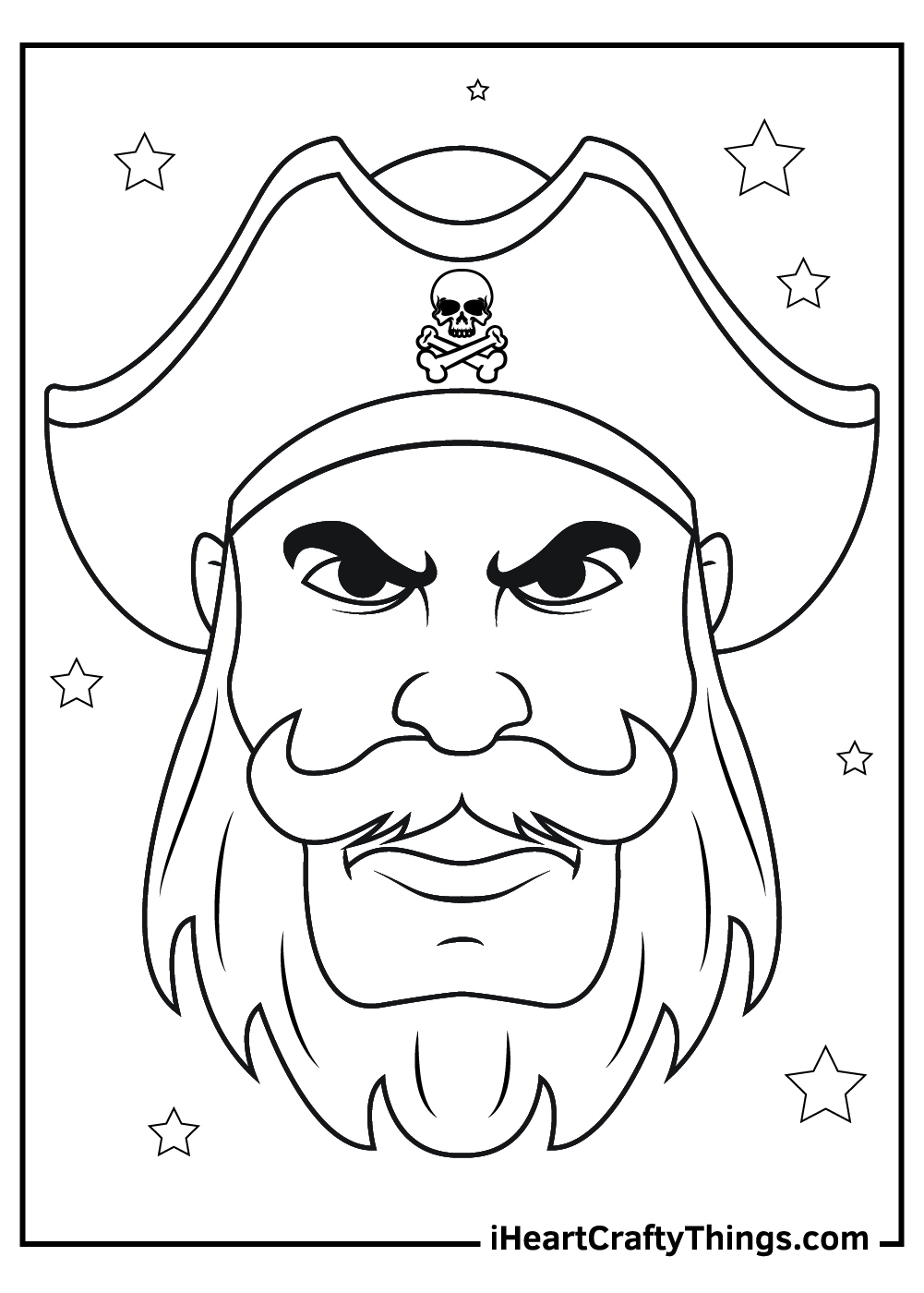 serious pirate coloring pages free pdf