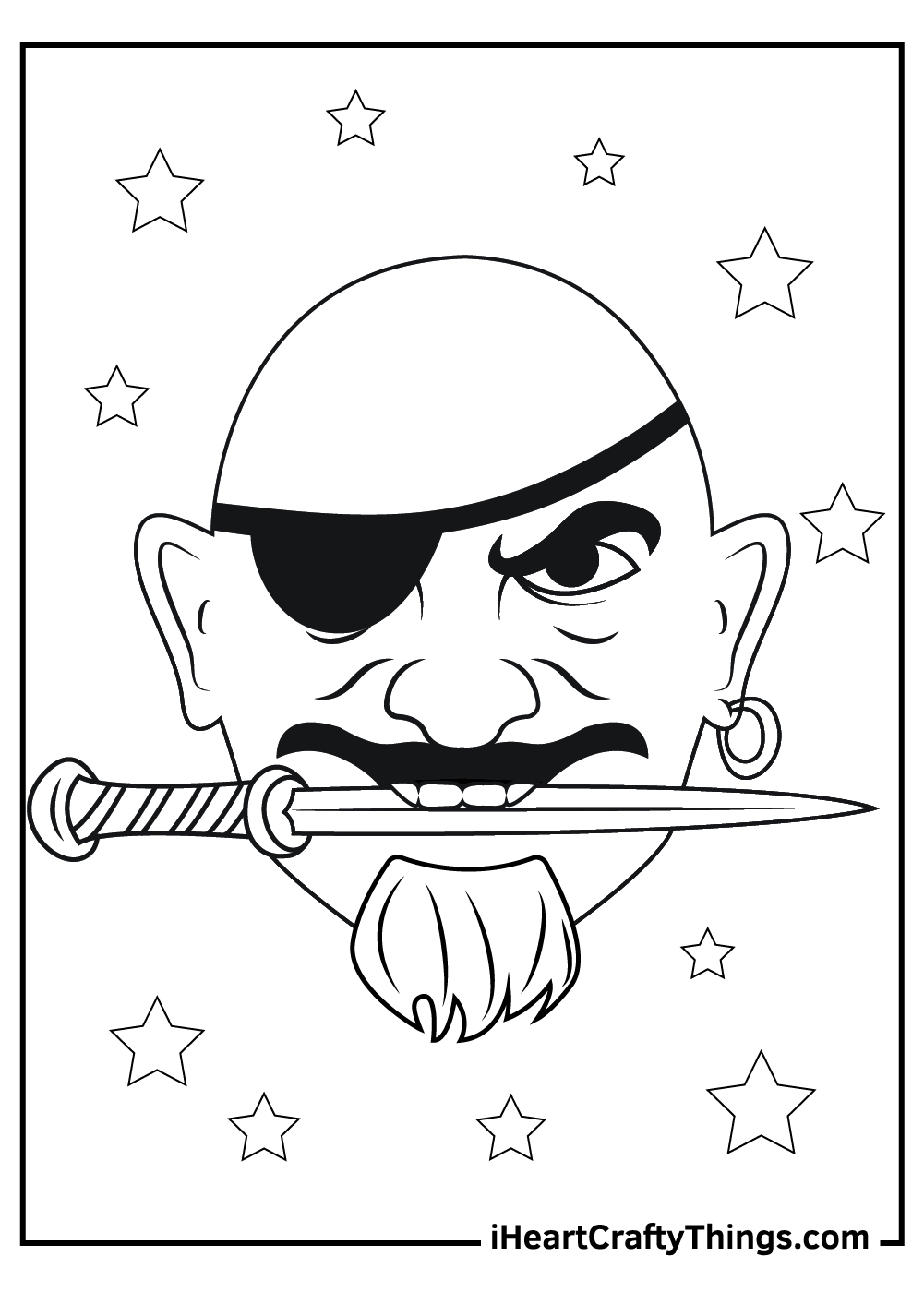 scary pirate coloring pages free printable
