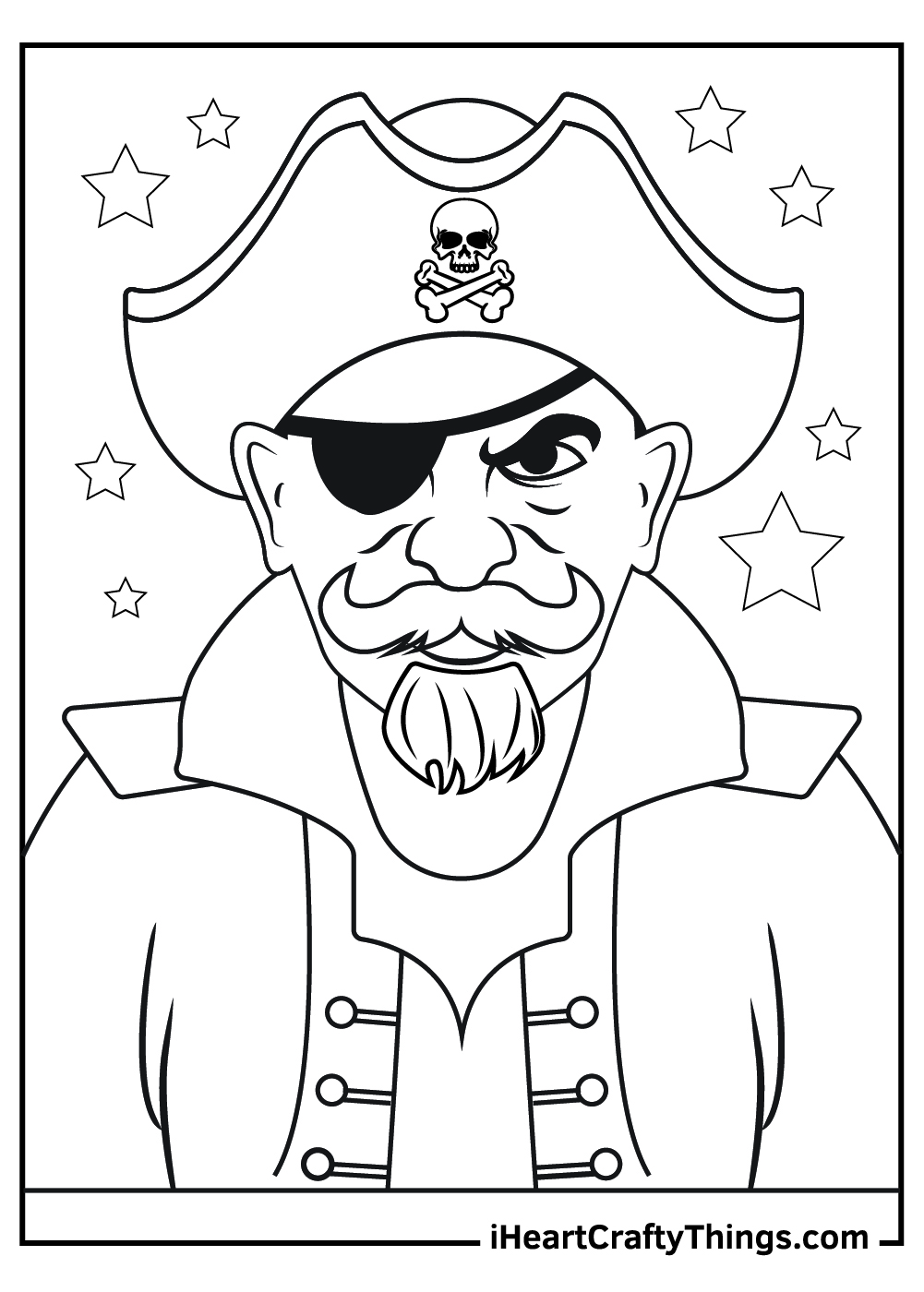 ugly pirate coloring pages free printable