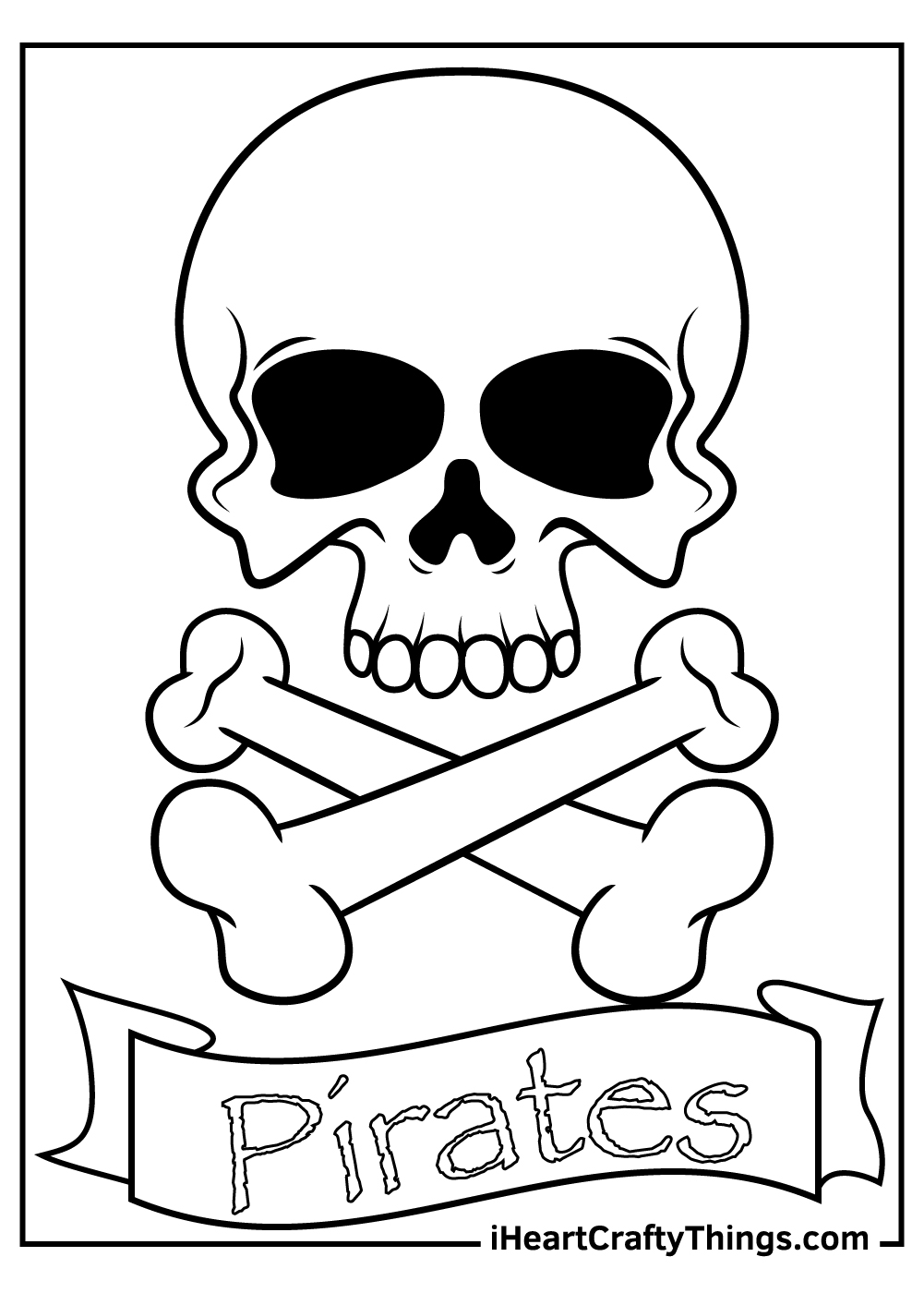 Pirates flag free printable coloring pages