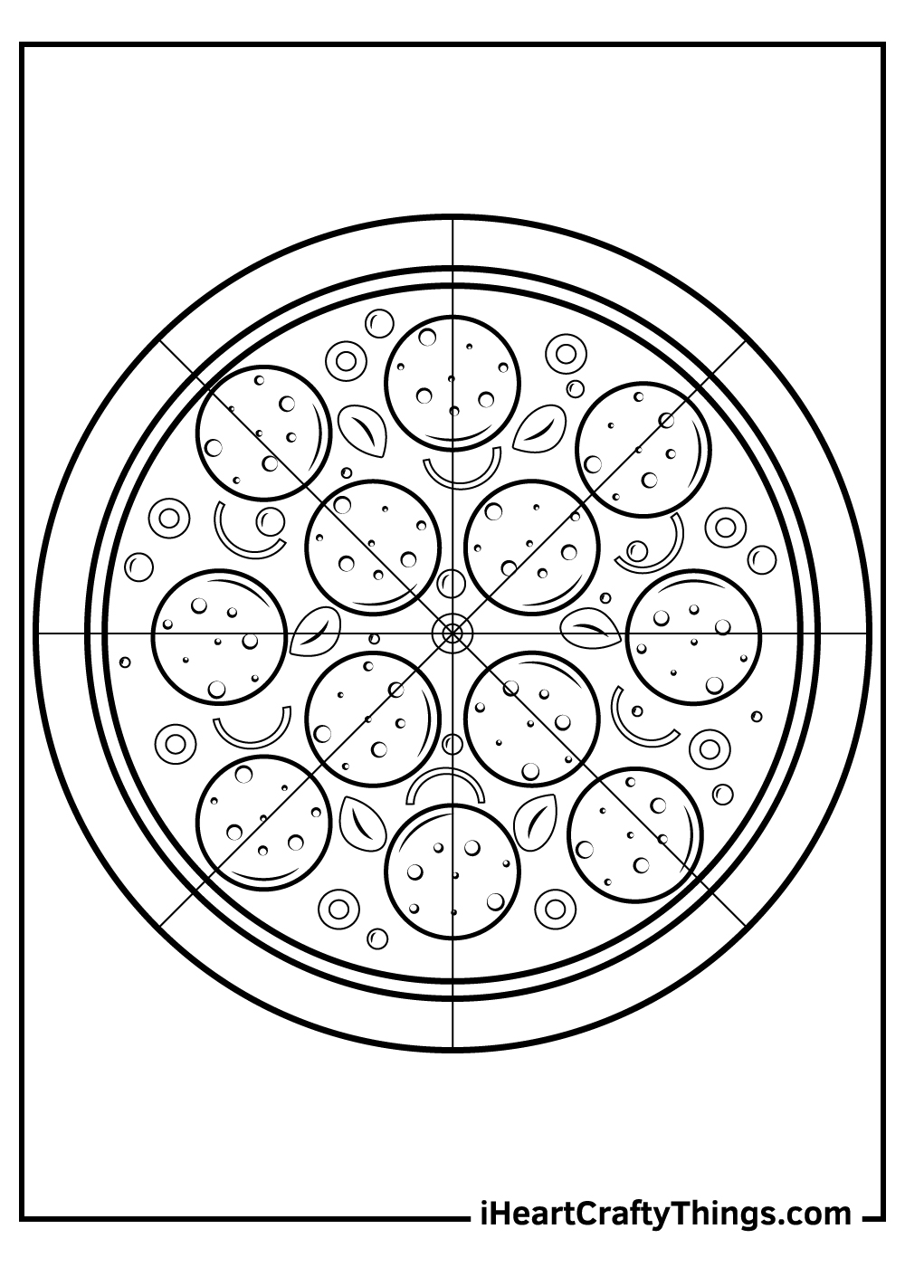 black and white pizza coloring sheets