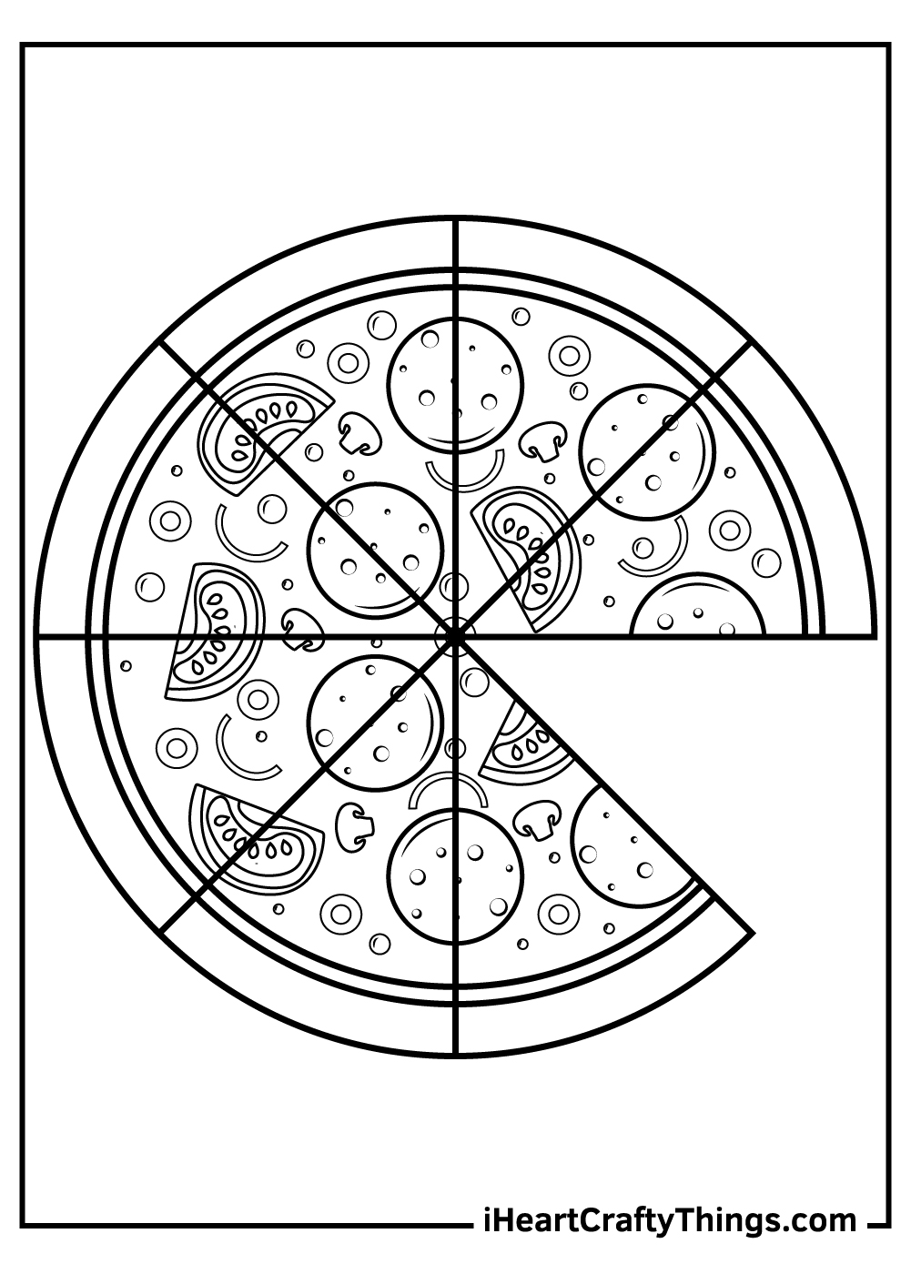pizza coloring pages free to print