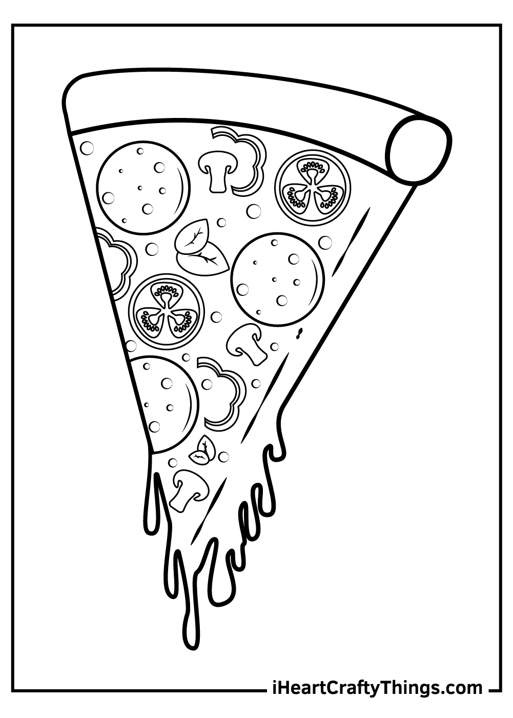 dominos pizza coloring pages