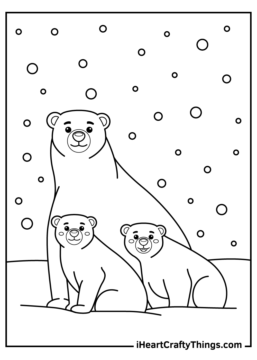 polar bears coloring pages free printable