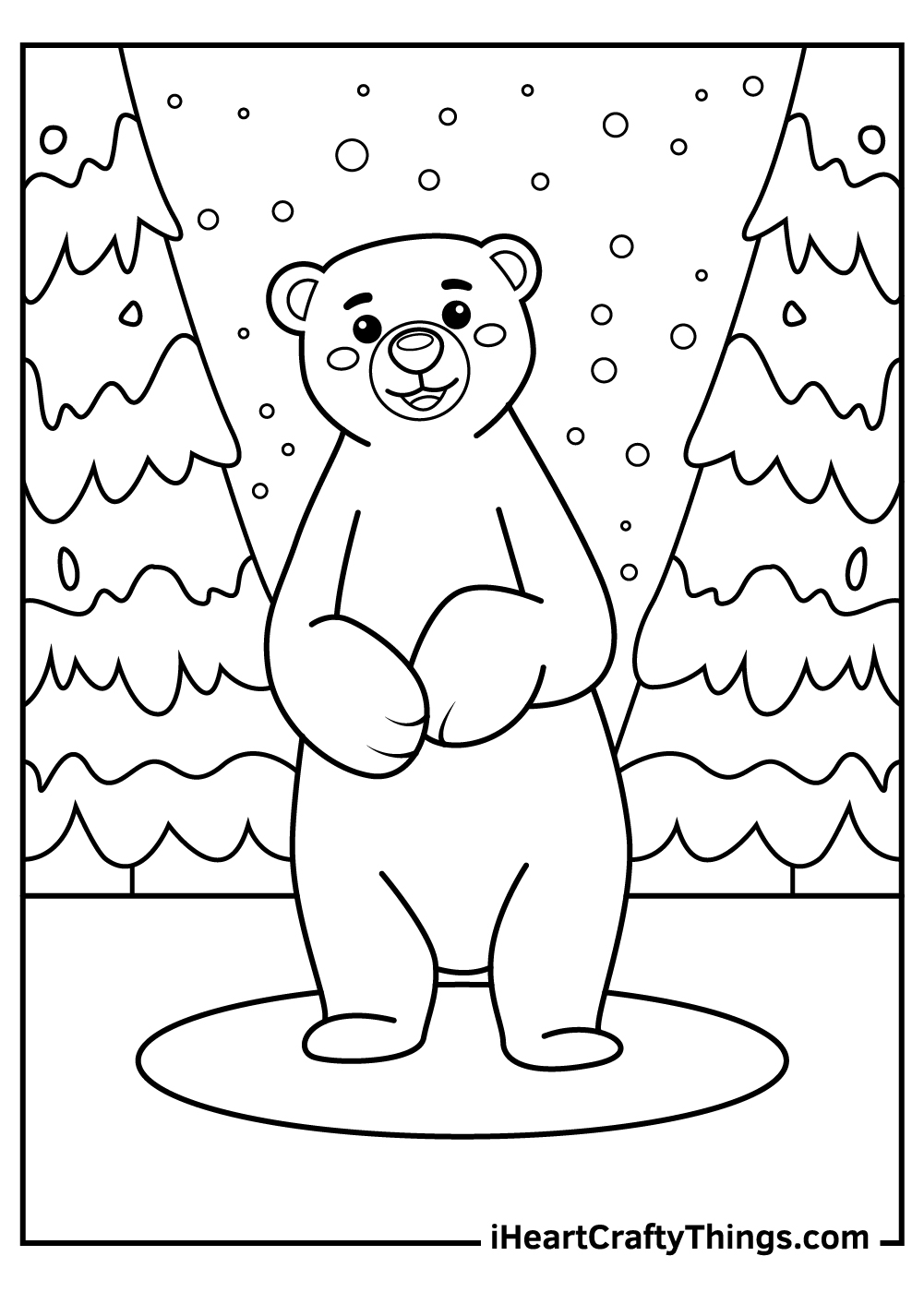 polar bears coloring pages for kids
