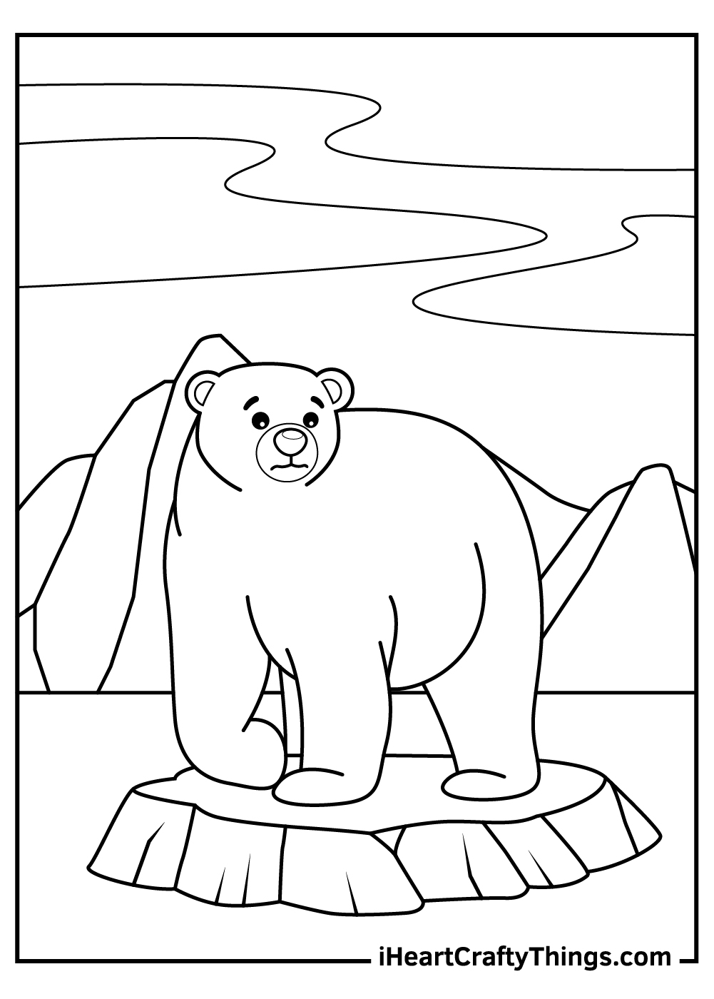 polar bears coloring pages free download