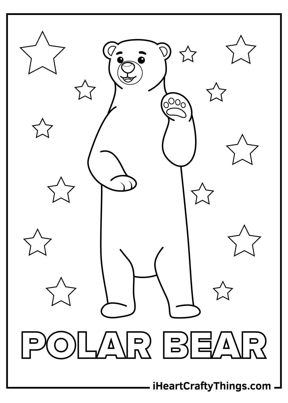 christmas polar bears coloring pages