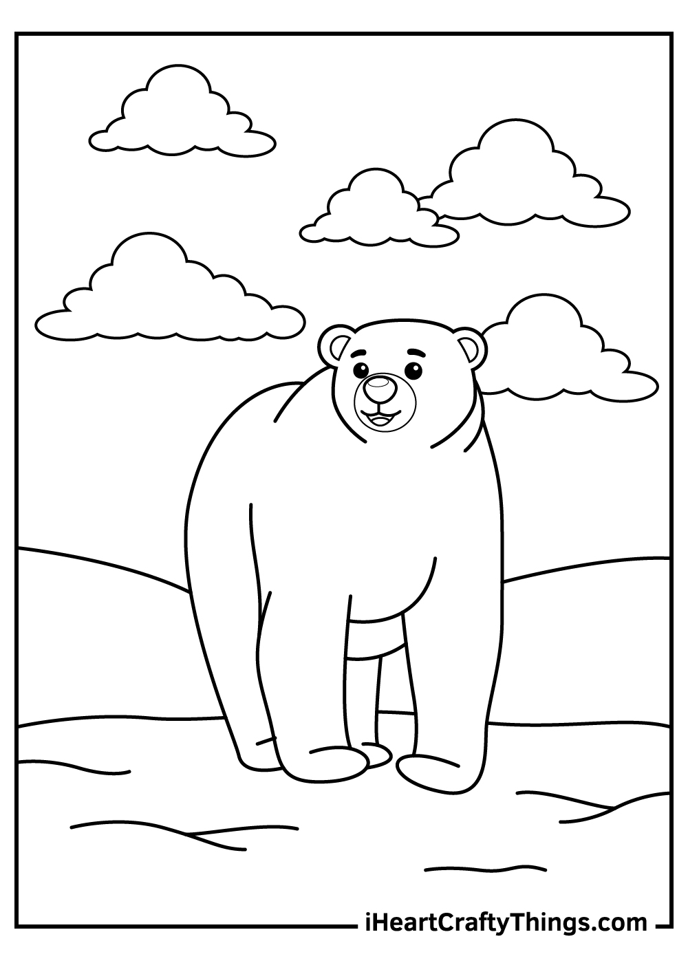 adult polar bears coloring pages free printable