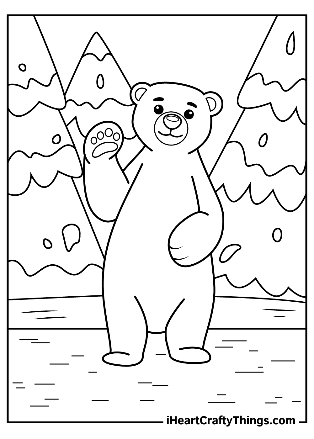 save the polar bears coloring pages